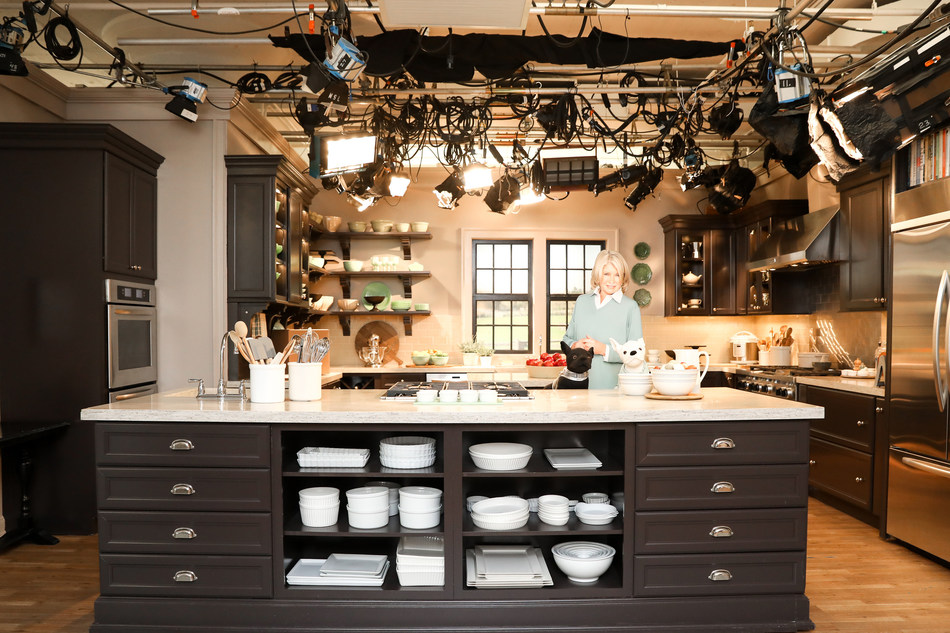 Martha Stewart Turkey Hill Kitchen Set, Props and Lighting, and Emeril Lagasse Kitchen for Auction at Kaminski Auctions, May 17th 2020 at 10:00AM EST