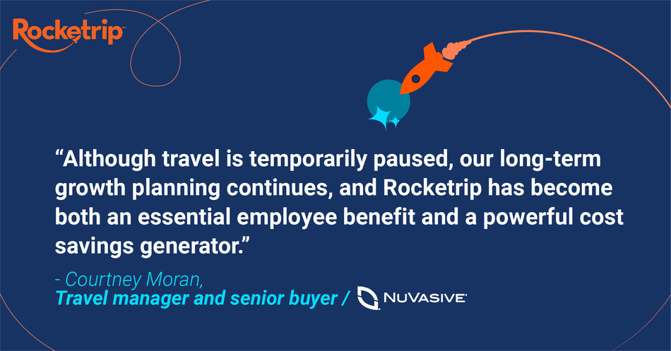 NuVasive is looking ahead to the future of business travel with Rocketrip.