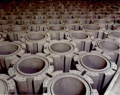Graphite blocks in the core of an advanced gas-cooled reactor. Image courtesy of EDF.