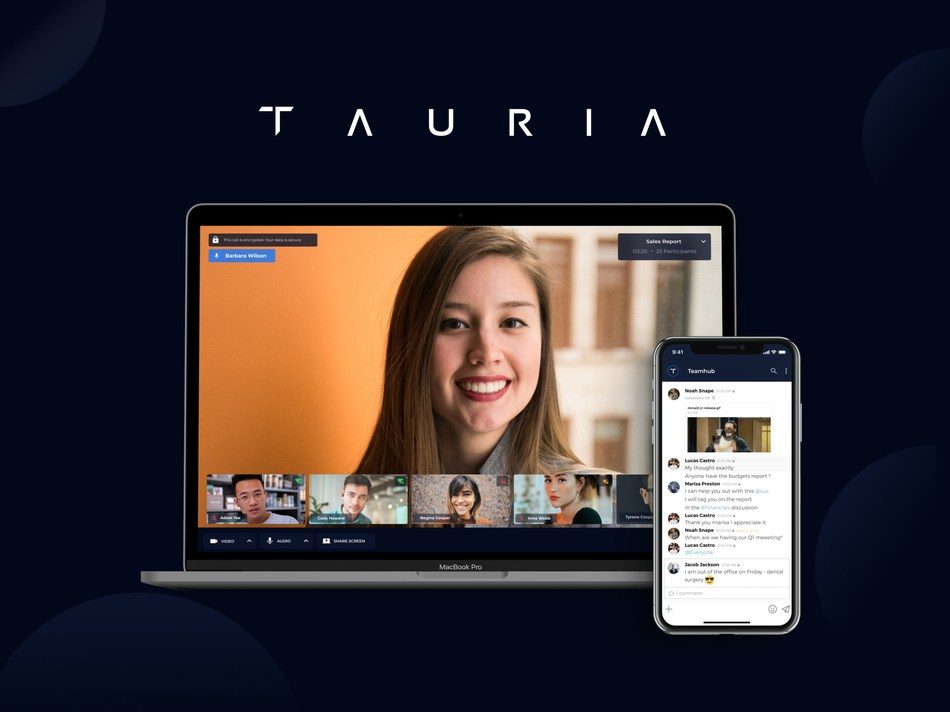 Tauria, a Waterloo-based software encryption company, is excited to announce the launch of its secure video conferencing and business suite. (CNW Group/Tauria)