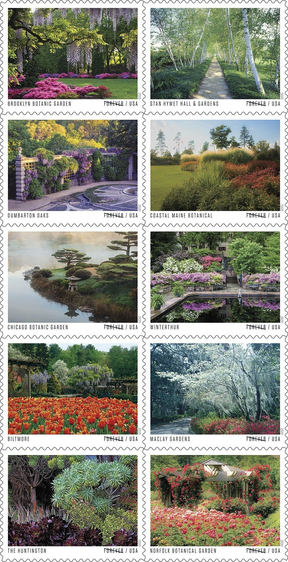 Sowing Stamps with American Gardens