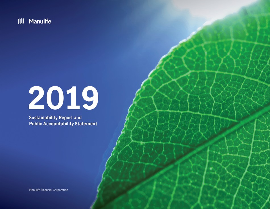 Manulife Releases 2019 Sustainability Report and Public Accountability Statement (CNW Group/Manulife Financial Corporation)