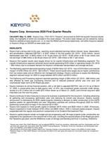 Keyera Announces 2020 First Quarter Results (CNW Group/Keyera Corp.)