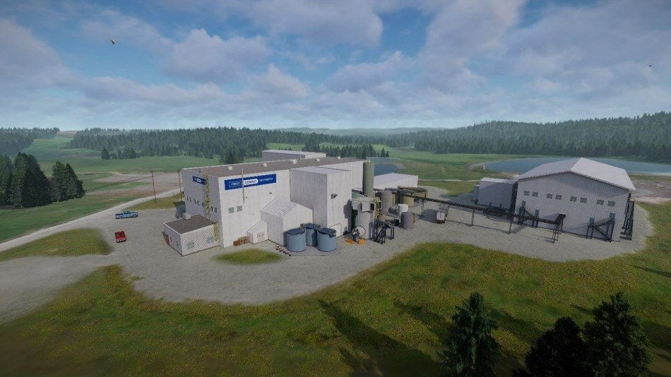 Site Rendering of the expanded First Cobalt Refinery (CNW Group/First Cobalt Corp.)
