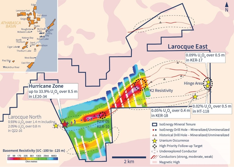 Figure 4 – Other Larocque East Exploration Target Areas (CNW Group/IsoEnergy Ltd.)