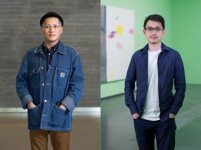 Left: Samson Young, image: Winnie Yeung @ iMAGE28, courtesy of M+, Hong Kong; right: Yang Zi, image courtesy of Yang Zi