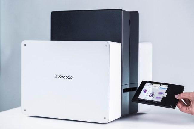 Scopio's disruptive digital microscopy platform pictured here
