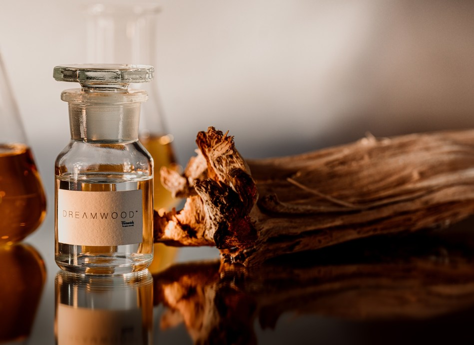 Dreamwood(TM) offers olfactive and cosmetic benefits, demonstrated through rigorous laboratory testing (patent pending).