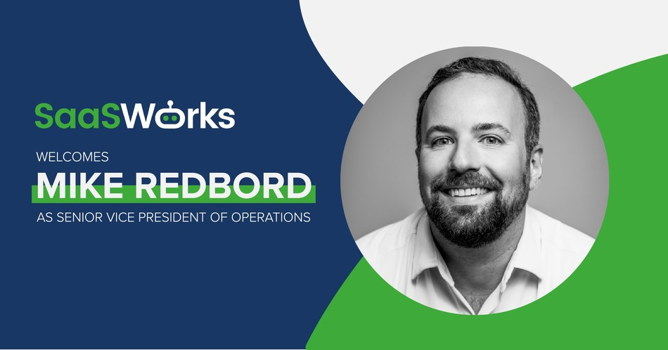 SaaSWorks, a provider of revenue operations and customer success solutions for scaling subscription businesses, announced that Mike Redbord will be joining their team as Senior Vice President of Operations.