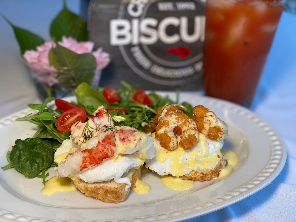 In honor of National Biscuit Day, Red Lobster® is releasing a full day's worth of Cheddar Bay Biscuits®-centric at-home recipes, including the Cheddar Bay Biscuit Benedict for breakfast.
