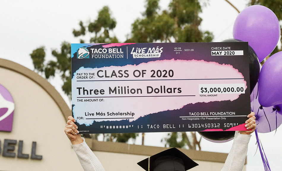 The Taco Bell Foundation is providing $3 million in scholarships to 622 team members and fans to help them pursue their unique passions.