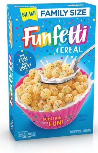 The rumors are true: Funfetti cereal is coming! New 'bursting with fun' baking brand debuts in the cereal aisle this August.