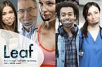 LEAF - Self-Sterilizing, Transparent N99+ Mask; face unlocks smartphones