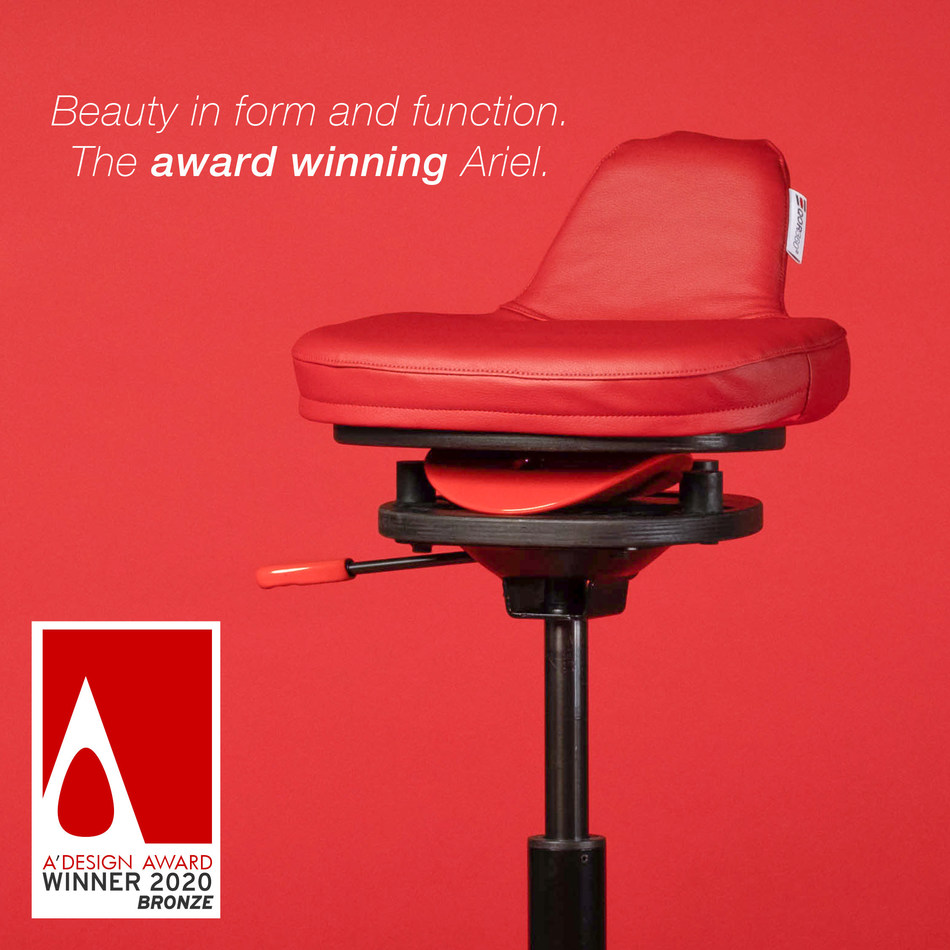 The QOR360 Ariel is the Bronze Winner in the Furniture Category of the 2020 A'Design Award. It is available at QOR360.com. Prices range from $375-$440.