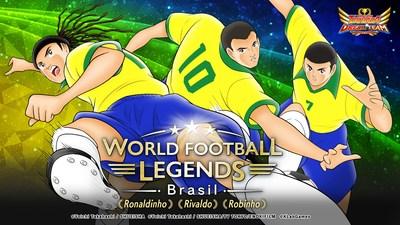 Lendas do futebol brasileiro em campo! Novos personagens em Captain Tsubasa Dream Team: Ronaldinho, Rivaldo e Robinho