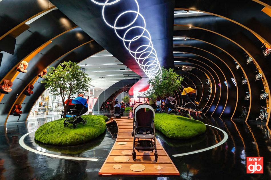 Goodbbay's new Goodbaby Eco Exhibition Hall, designed by a leading French interior designer