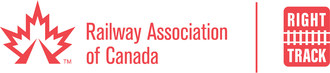 Logos: Railway Association of Canada and Right Track (CNW Group/RAILWAY ASSOCIATION OF CANADA)