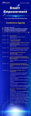 Agenda de la conferencia (PRNewsfoto/JA Solar Co., Ltd.)