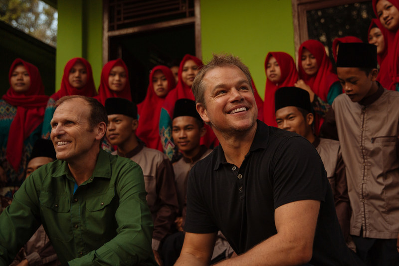 Water.org & WaterEquity Co-founders, Gary White & Matt Damon visit water and sanitation projects in Indonesia