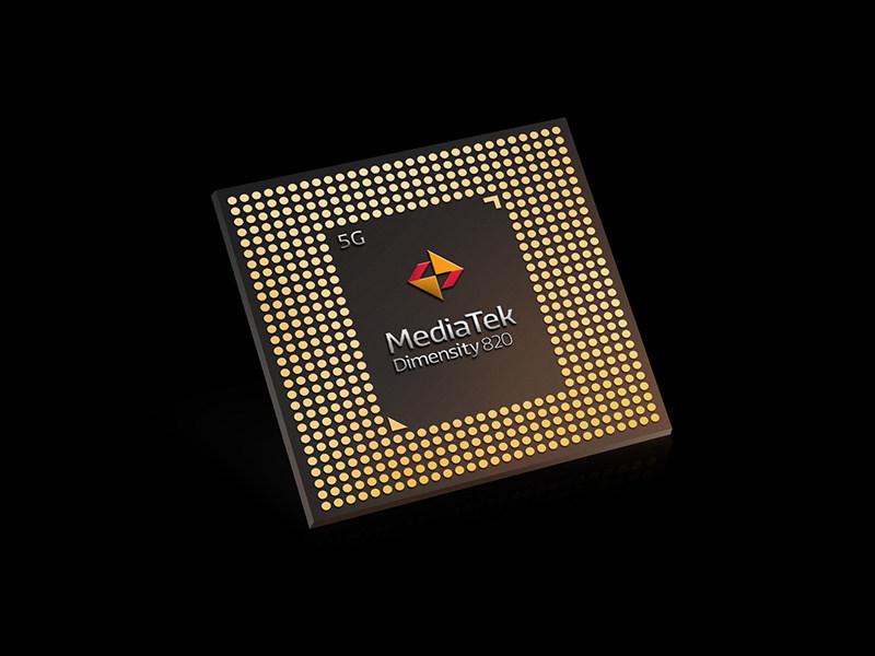 MediaTek Dimensity 820 5G chipset (PRNewsFoto/MediaTek Inc.)