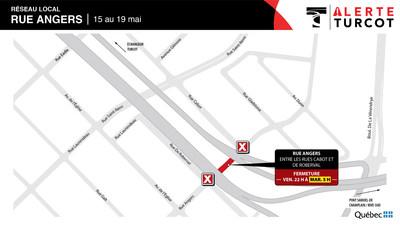 Rue Angers, fin de semaine du 15 mai (Groupe CNW/Ministère des Transports)
