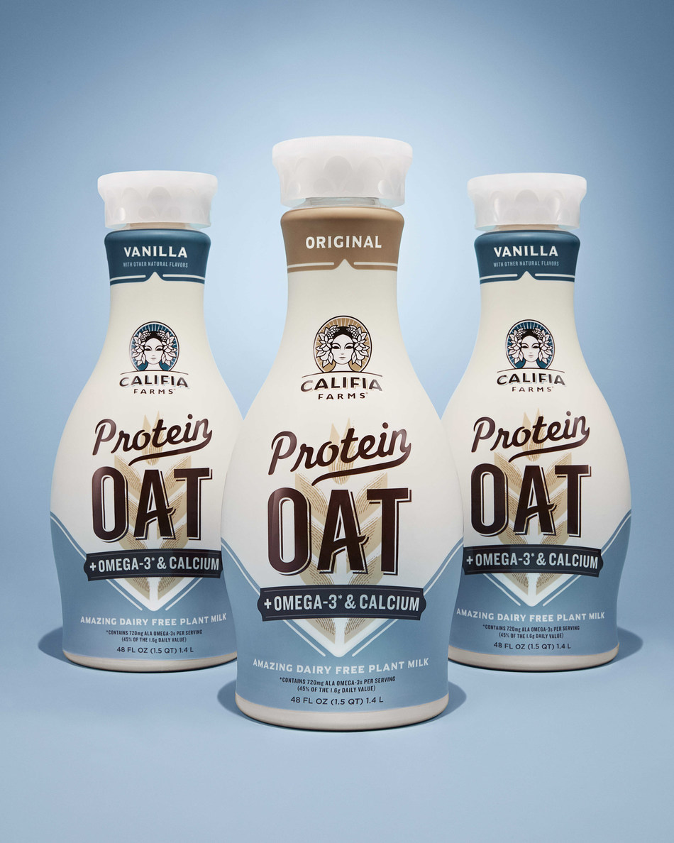 Califia Farms Debuts 'Protein Oat', the Perfect Alternative to Dairy Milk Made with 8 Grams of Plant Protein and 9 Essential Amino Acids
