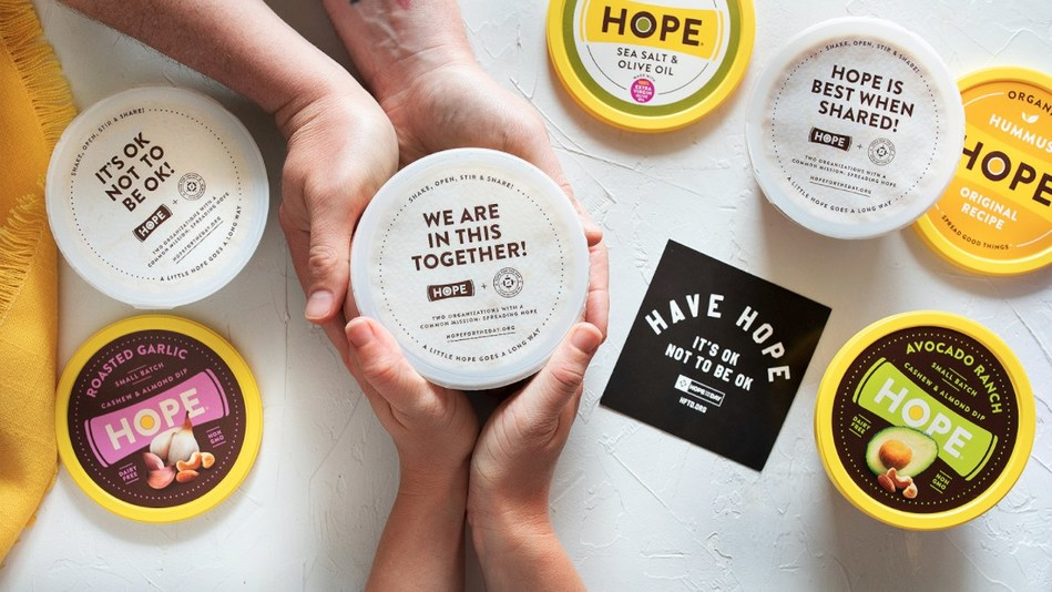 Hope Foods® and Hope For The Day® team up to help fight depression by promoting mental health awareness and healthy diets.