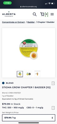 Stigma Grow concentrates hit the shelves in Canada in May, 2020 (CNW Group/CanadaBis Capital Inc.)
