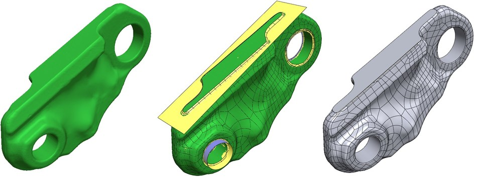 Geomagic Design X 2020 streamlines Hybrid Modeling Workflows for molding, casting, topology optimization, and medical applications.