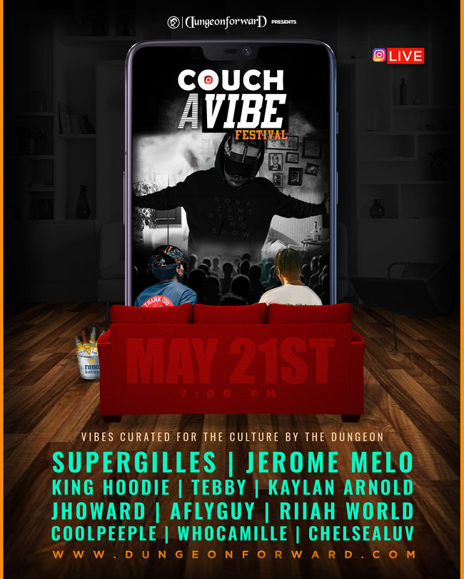 Couch A Vibe Lineup - Courtesy of Dungeon Forward