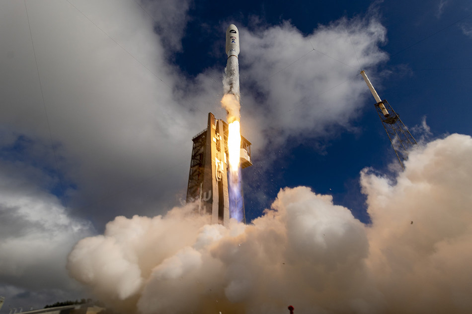A United Launch Alliance (ULA) Atlas V 501 rocket carrying the USSF-7 mission for the U.S. Space Force lifted off on May 17, 9:14 a.m. EDT, from Space Launch Complex-41, Cape Canaveral Air Force Station, Florida. Photo courtesy of United Launch Alliance.