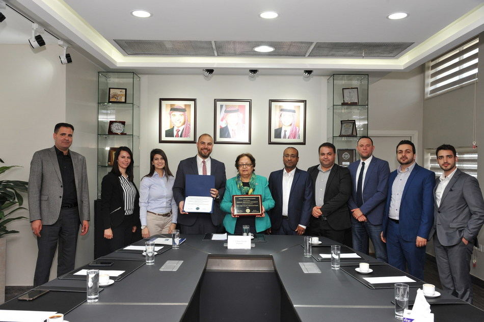 From left to right:  •	Dr. Ali Al-Attar, PhD, MBA : Associate Professor of Accounting  •	Mrs. Lama Obeidat, MSc, CMA, CPA : Instructor of Accounting  •	Mrs. Balkis Set-Abouha, MSc : Instructor of Accounting and Finance •	Dr. Malek Alsharairi, PhD, FHEA : Dean of School of Management and Logistic Sciences, Associate Professor of Accounting and IMA Campus Advocate •	Prof. Manar Fayyad : President of University  •	Dr. Bassam Maali, PhD, MBA : Associate Professor of Accounting •	Dr. Ahmad Abu Dawleh, PhD : Head of International Accounting Dept. and Assistant Professor of Accounting •	Mr. Luai Abu Rajab, MBA, CMA, CIA : Instructor of Accounting and Finance •	Dr. Mohammad Alomari, PhD : Assistant Professor of Finance •	Mr. Zaid Alzghoul, MSc : Instructor of Accounting