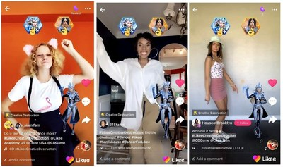 Likee and Creative Destruction Turn up for Online Challenge in U.S. with Influencers Daina Lachance, Officially.Livia, HouseofBrooklyn and Stefanialily