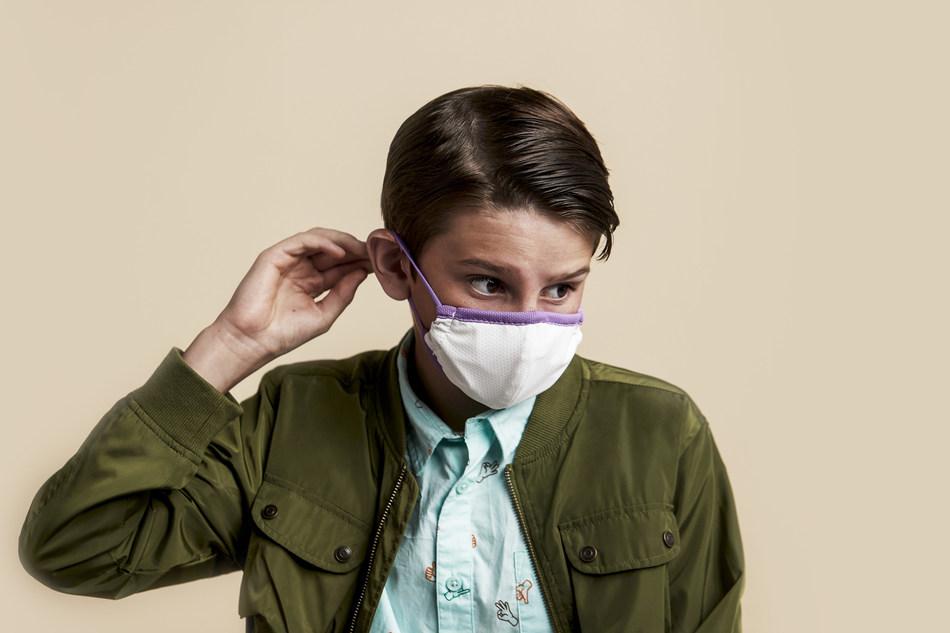 Boy wearing Purple Face Mask