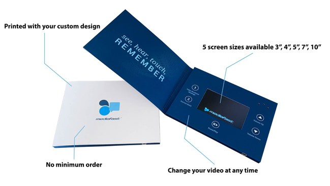 Video Brochures deliver your message directly to a captive audience.