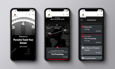 New service from Porsche Digital allows customers to track their dream car from production to delivery.