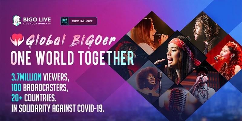 """La campaña """"Global BIGOer One World Together"""" de Bigo Live convoca a 3,7 millones de personas de 150 países para recaudar fondos para el Fondo de Respuesta Solidaria de la OMS (PRNewsfoto/Bigo Live)"""