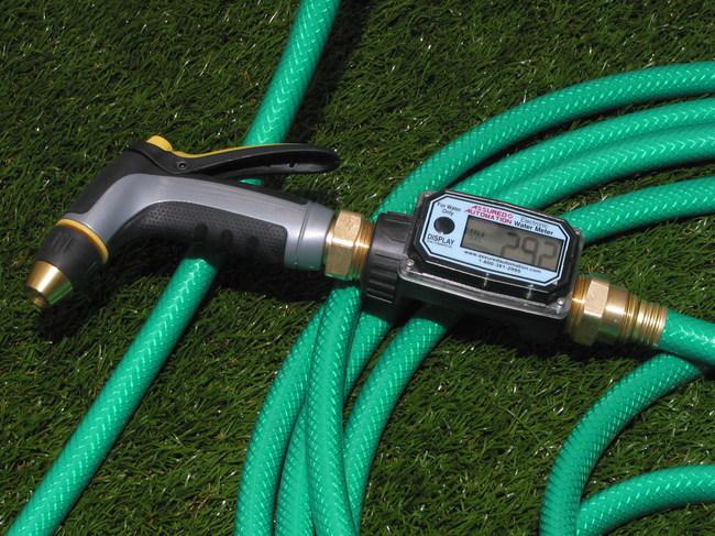 01N Economy Digital Water Meters with Garden Hose Adapters