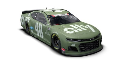 NASCAR Driver Jimmie Johnson and his sponsor Ally gave troops a sneak peek at the special paint scheme for the No. 48 Ally race car that was inspired by WWII military vehicles