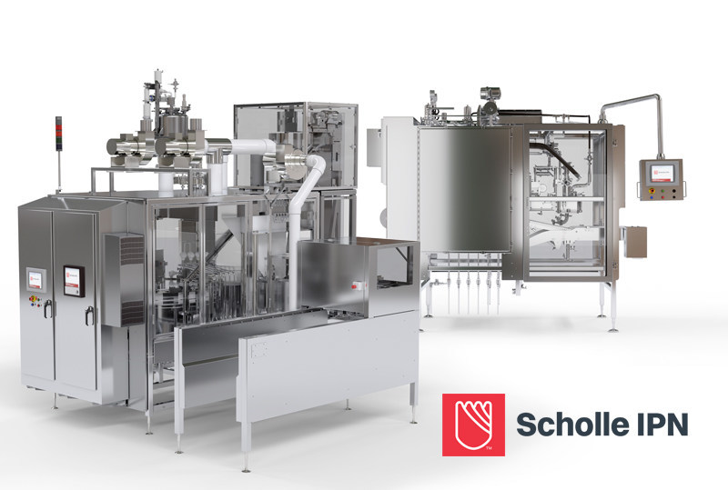 Scholle IPN SureFill filling equipment for flexible pouch and bag-in-box packaging.