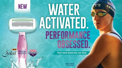 """Katie Ledecky is partnering with BIC, the official razor of USA Swimming, for its """"Game On"""" campaign that celebrates the confidence and fierce competitive edge in all of us."""
