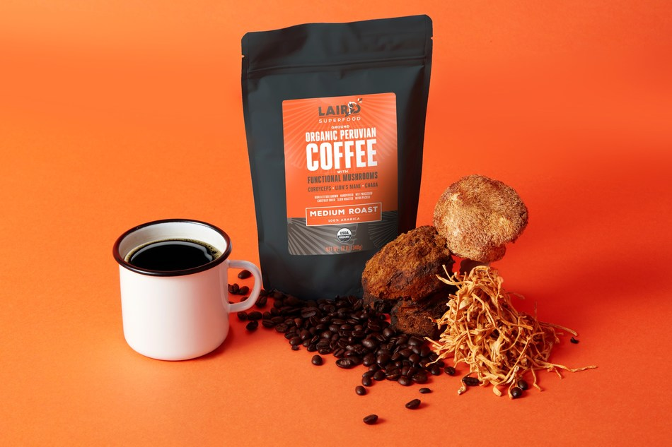 Laird Superfood Organic Ground Coffee with Functional Mushrooms