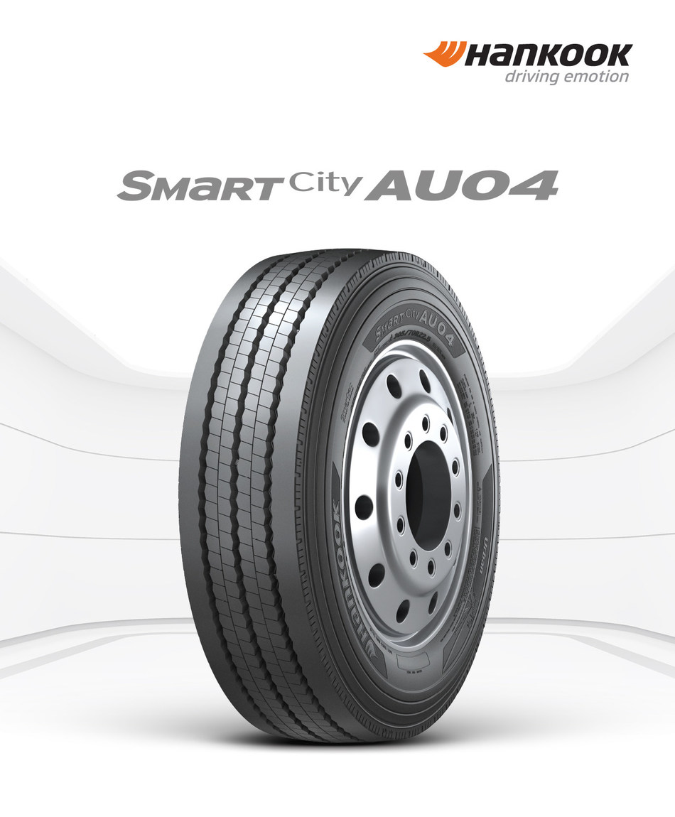 Hankook Tire continues TBR expansion with launch of new SmartCity AU04 tire, developed for high mileage start and stop applications for city buses.