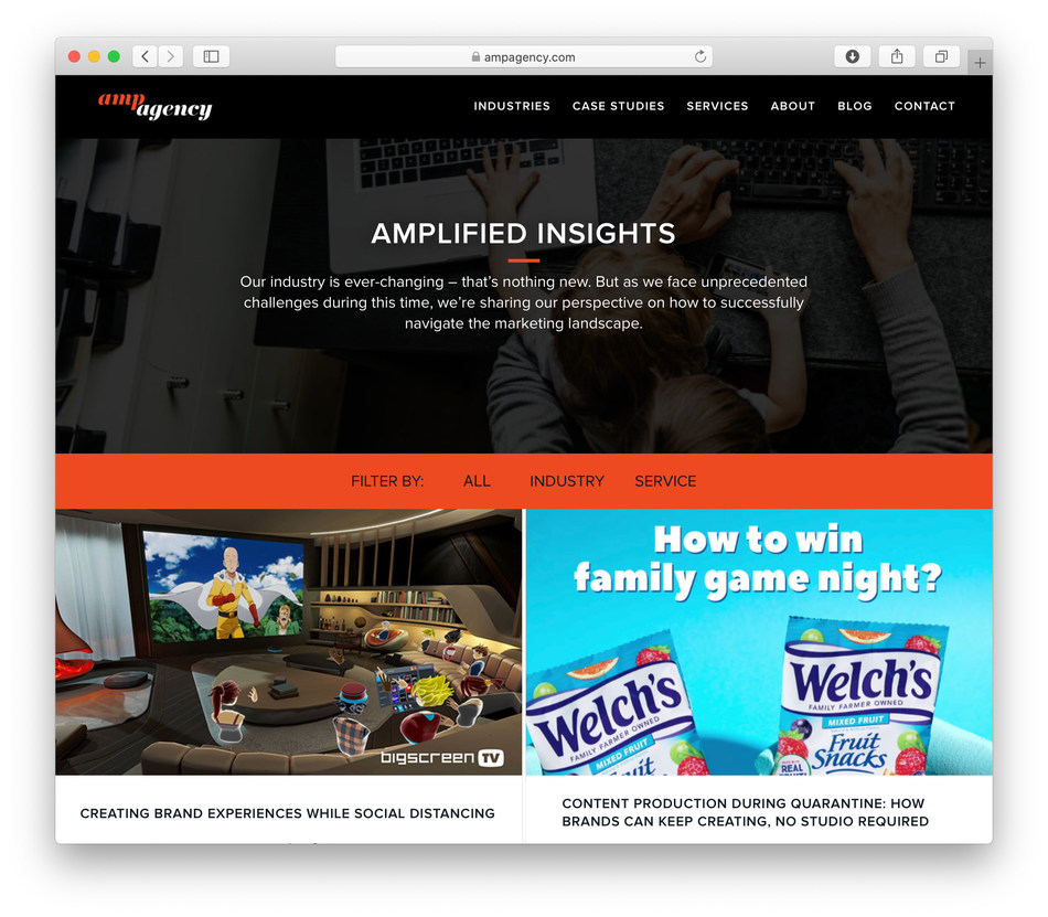 "AMP Agency launches ""AMPlified Insights,"" a content hub comprised of the latest data and trends, best practices, and expert guidance to help brand marketers as they navigate the current challenging business environment."