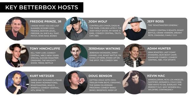 BetterBox Hosts, Freddie Prinze, Jr., Josh Wolf, Jeff Ross, Tony Hinchcliffe, Jeremiah Watkins, Adam Hunter, Kurt Metzger, Doug Benson, Kevin Mac