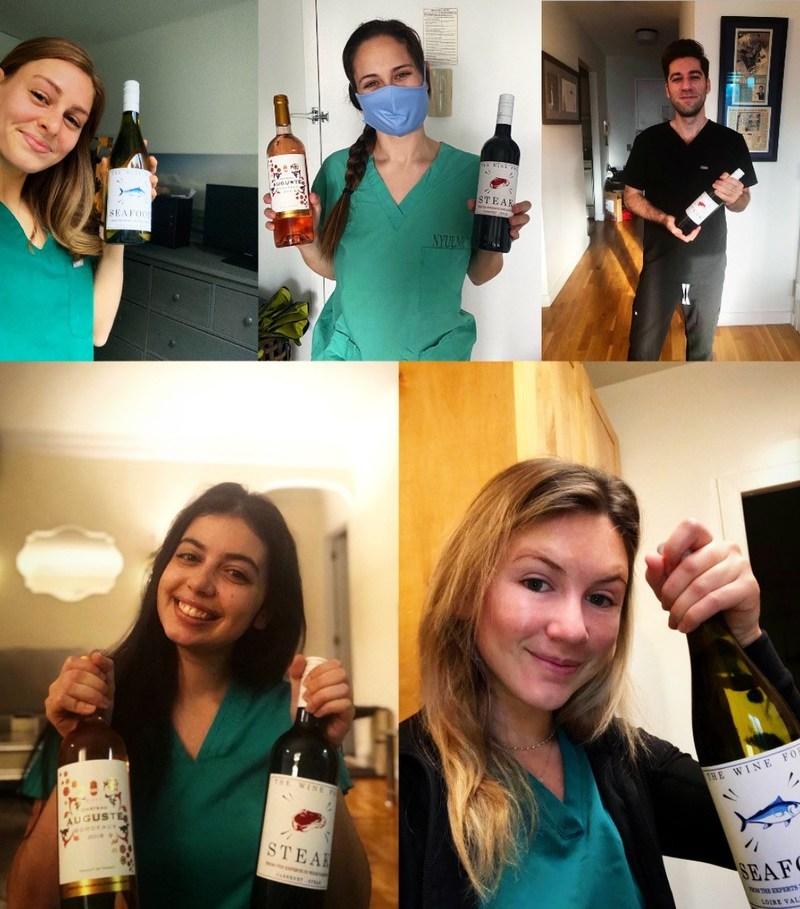 NYU Langone nurses with their PairME wines.