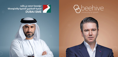 Abdul Baset Al Janahi, CEO of Dubai SME, and Craig Moore, Founder and CEO of Beehive