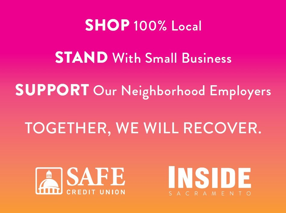 One side of the sign Sacramento area businesses are encouraged to post as part of the Take the 100% Local Pledge initiative.