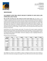 Filo Mining's Latest Drill Results Include 73 Metres of 2.04% CuEq (1.19% Copper and 1.06 g/t Gold) (CNW Group/Filo Mining Corp.)