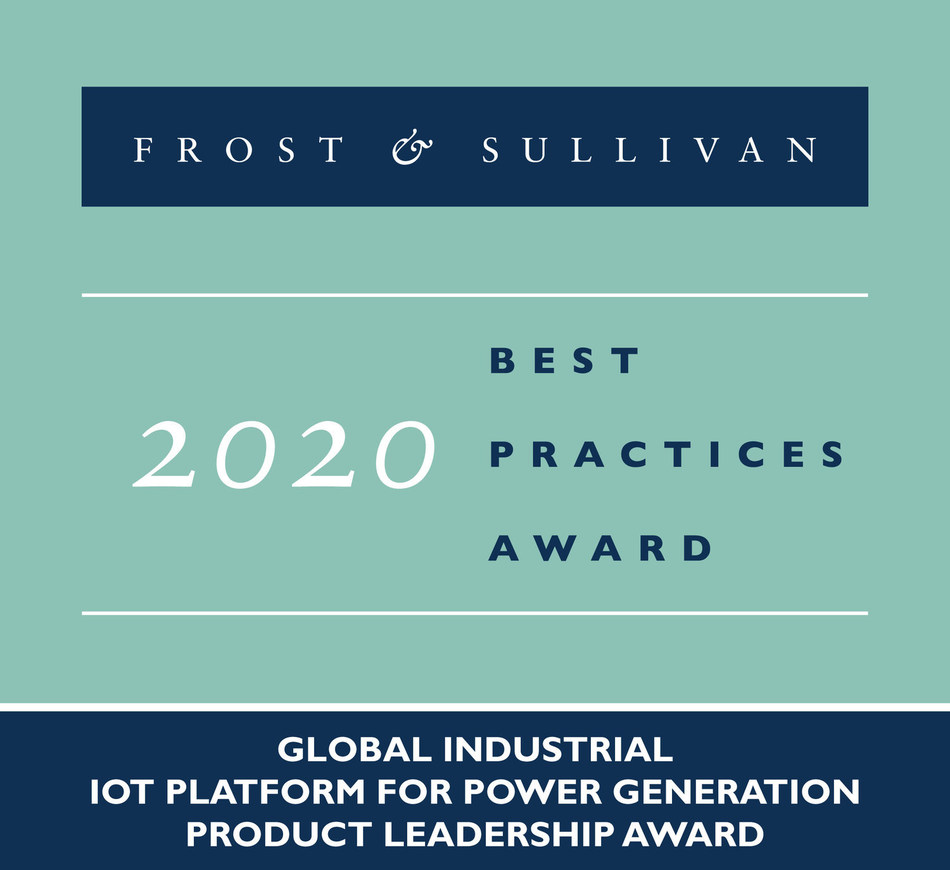 2020 Global Industrial IoT Platform for Power Generation Product Leadership Award (PRNewsfoto/Frost & Sullivan)